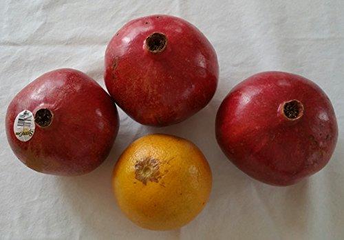 Fresh Pomegranates - Medium to Large Size [Set of 3]