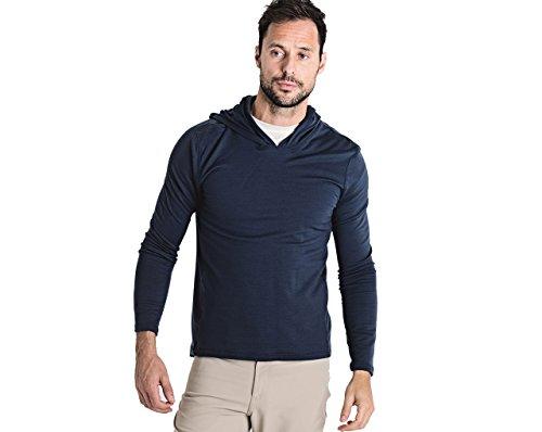 OLIVERS Apparel, Mens Merino Wool Performance Porter Hoodie. Odor Resistant, Water Repellent Temperature Regulating (Navy, ()