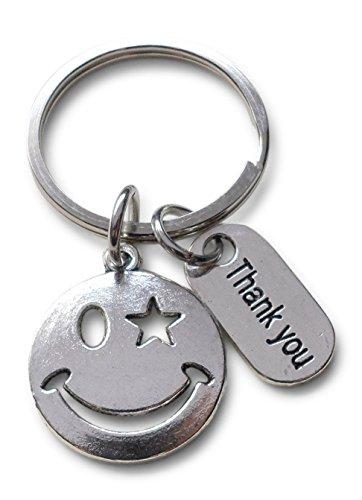 Keychain Face - Smiley Face Volunteer Appreciation Gift -
