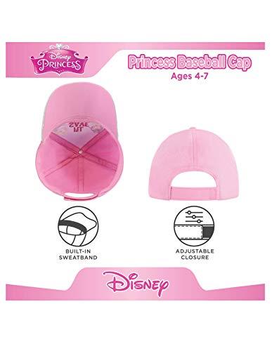 Disney Kids Hats for Little Girls Ages 4-7 Princess Baseball Caps