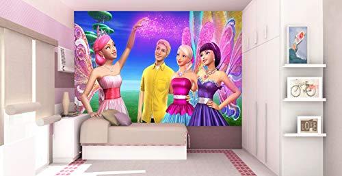 Papel De Parede 3D   Papel de Parede Infantil Barbie 0004 - Sobmedida: m²