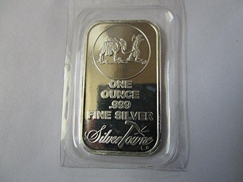 Troy Oz Silver Coin - NEW (Sealed in Plastic) SilverTowne Prospector-1 oz Silver Bar