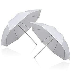"Emart 2 x 33"" Photography Photo Video Studio Lighting Flash Translucent White Soft Umbrella"