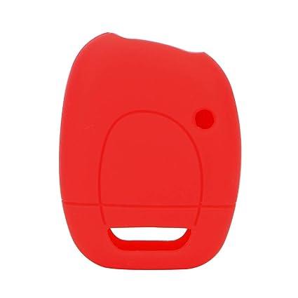 Carcasa de Repuesto para Llave de Coche Renault Clio Kangoo Master, Carcasa de Silicona, Rojo