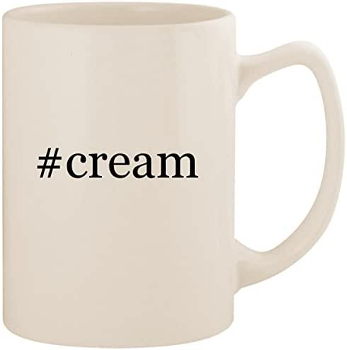 #cream - White Hashtag 14oz Ceramic Statesman Coffee Mug Cup