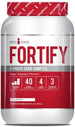 Complete Nutrition Ignite Series Fortify 3-Phase Carb Complex, Unflavored, Increased Energy, Endurance Support, 42 oz Tub (30 Servings)