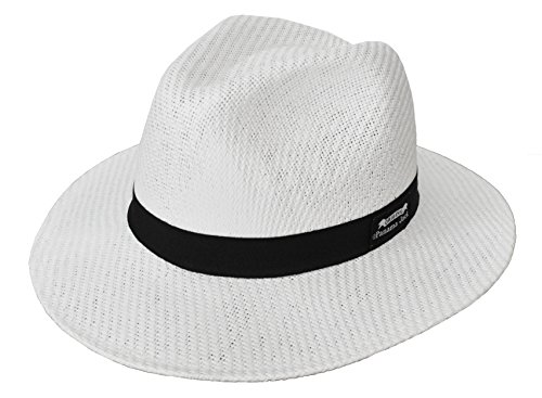 (Panama Jack Men's Matte Toyo Safari Hat Large White)