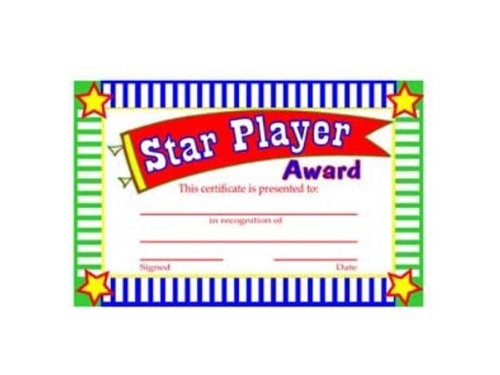 star player award certificates pack of 96 amazon co uk electronics