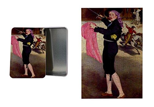 Mlle Victorine Costume Matador (Manet) Metal Tin Trinket Box (4