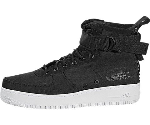 Nike Men's SF AF1 Mid Air Force 1 (9.5 M US, Black/Anthracite-White)
