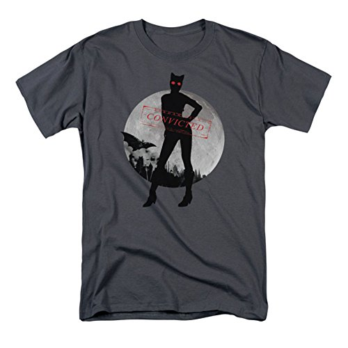 Batman Men's Catwoman Convicted T-shirt Charcoal at Gotham City Store