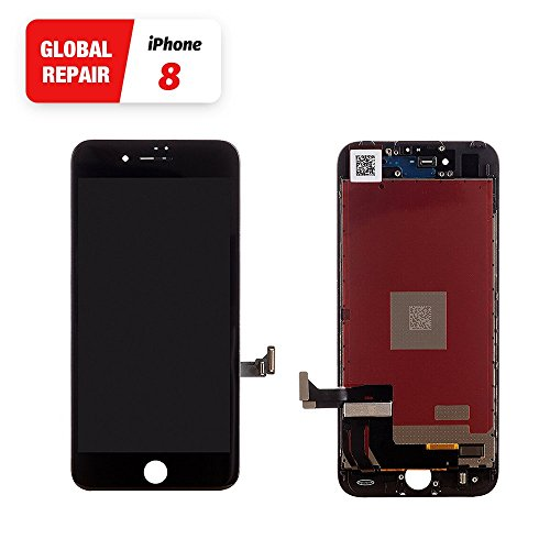 Black iPhone 8 LCD Touch Screen Replacement From Global Repair Digitizer Screen With Free Gift Repair Tools Kit
