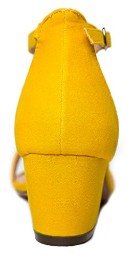 J. Adams Tobillo Correa Kitten Heel - Adorable Bajo Bloque De Tacón - Daisy By Yellow