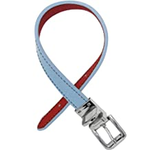 FouFou Dog Reversible Collar, 14-Inch, Baby Blue/Red