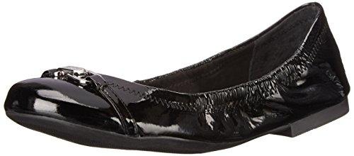 Lauren Ralph Lauren Women's Betsy, Black Crinkle Patent Leather, 6 B US