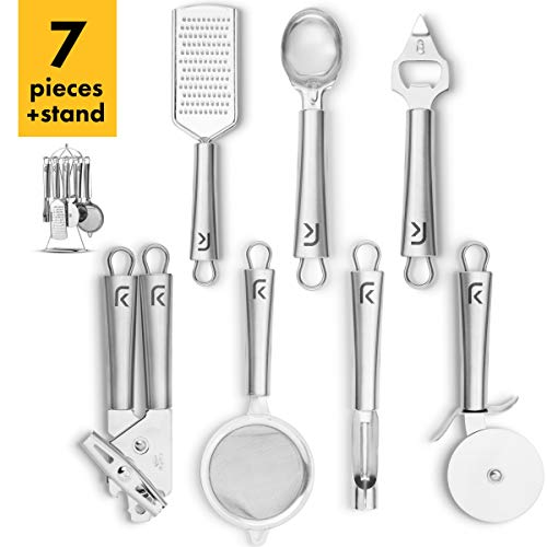 Klee 7-Piece Stainless Steel Kitchen Gadgets Set with Holder
