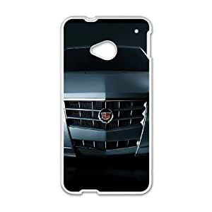 Cadillac HTC One M7 Cell Phone Case White Phone cover V92799280