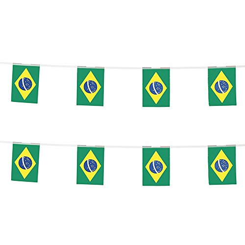 KalaBear Brazil Flags,Brazilian National Country World Pennant String Flags Banners For Party Events Decorations Classroom Garden Olympics Festival Grand Opening Bar Sports Clubs