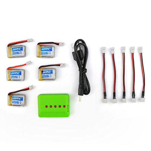 Dreamyth Durable 3.7V 150mAh Li-Polymer Battery +A Five Charger For JJRC H36 RC Quadcopter (S) by Dreamyth