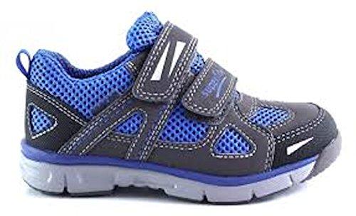 Superfit - Zapatillas de Piel para niño Azul azul Blau /Grau
