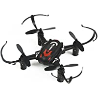 WonderTech Super Mini Filp 6-Axis Gyro Drone, 5-channel 2.4 GHz, With LED lights light up the night (Black)