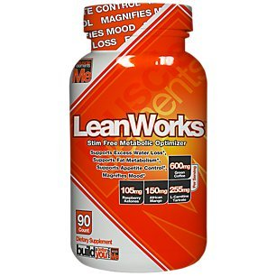 Muscle Elements LEANWORKS – Stimulant Free Thermogenic Fat Burner & Metabolic Optimizer with L-Carnitine & Green Coffee Bean Extract, Best Caffeine Free Fat Burner, 90 (Metabolic Advantage)