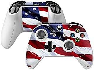 product image for Patriotic Skin Decal Compatible with Microsoft Xbox One and One S Controller - Full Cover Wrap for Extra Grip and Protection