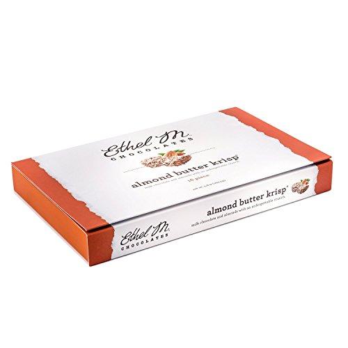 ETHEL M Chocolates Almond Butter Krisp Candy Gift Box 5.8-Ounce 16-Piece Box