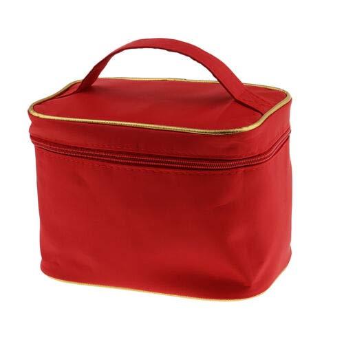 (Travel Women Makeup Handbag Cosmetics Storage Organizer Holder Pouch Zipper (Color - Red))