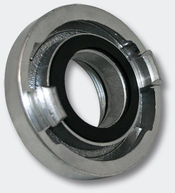Wiltec Storz-Kupplung Festkupplung D 25 mm mit Innengewinde 1 Zoll 32,89 mm Alu Schlauchkupplung