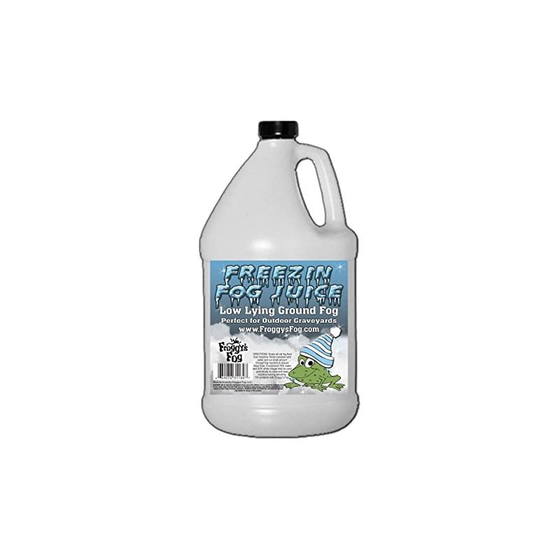 Freezin Fog Outdoor Low Lying Ground Fog Juice Machine Fluid - 1 Gallon - The Haunted House Owner's Choice for Outdoor Graveyard Fog