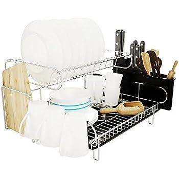 Amazon Com Professional Dish Drying Rack 2 Tier 304