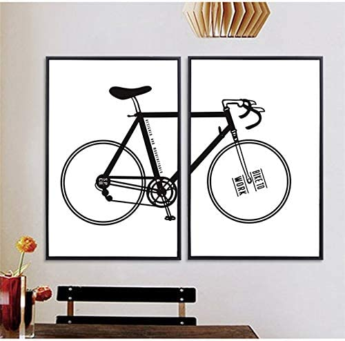 XWArtpic Retro Creativo Simple Arte Bicicleta Bicicleta Pintura ...