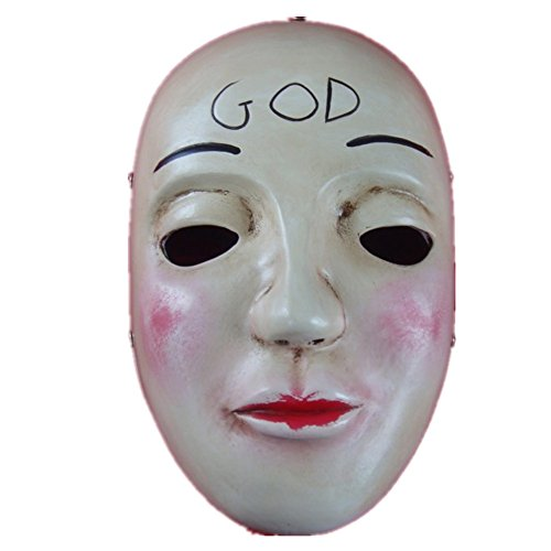 The Purge GOD Anarchy Movie mask Deluxe Killer James Sandin Halloween Cosplay Costume Party Prop -