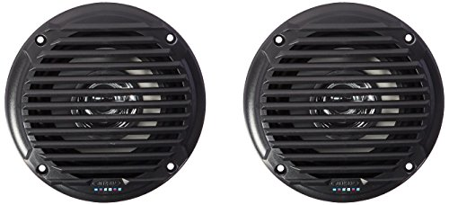 JENSEN MS5006B Black Dual Cone Waterproof Speaker ()