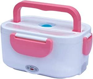 Cabilock Lunch Box Portable Electric Heating Lunch Box Food Storage Warmer Container with Chinese Flat Plug (Pink)
