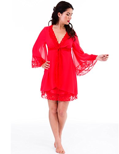 Mio Lounge Venice Red Chiffon Robe 131517R