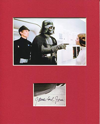 James Earl Jones Rare Star Wars Darth Vader Voice Signed Autograph Photo Display from HollywoodMemorabilia