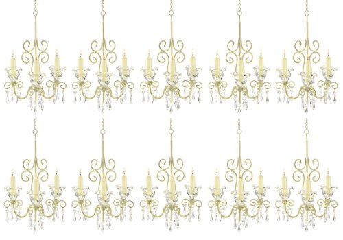 Swirl Acrylic Candle Holder (Wholesale lot of 10 Shabby Crystal Scroll Chandelier Candle Holder, Chic [Misc.])