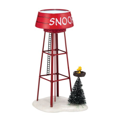 Department 56 Peanuts Village Snoopy Water Tower Accessory, (Peanut Tower)