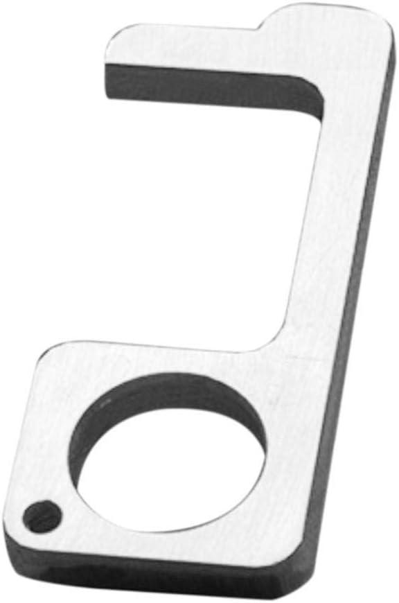 Yunt-11 Herramienta de Llavero EDC de lat/ón de Mano Que Ofrece la Herramienta de Gancho para Abrir la Puerta sin Contacto y la Herramienta de Aguja la Apertura del bot/ón del Elevador