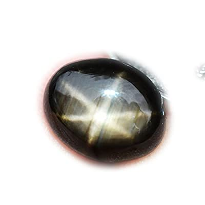 2.90ct Natural Cabochon Black Stars Sapphire 6 Ray Thailand #R