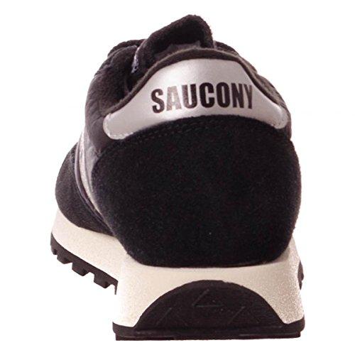 Sneaker Saucony Jazz Vintage in suede e nylon rosa Black/White