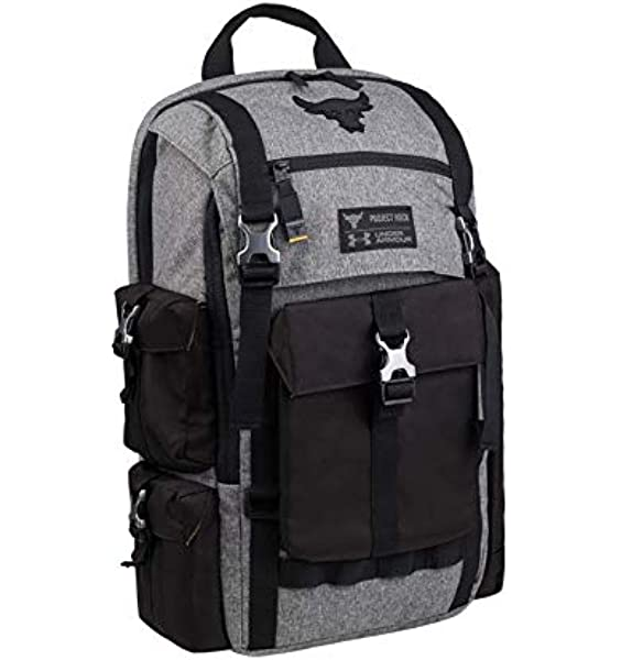 Pirata Violar Tener cuidado  Amazon.com: Under Armour Project Rock Bag Gray UA Regiment Laptop Backpack:  Computers & Accessories