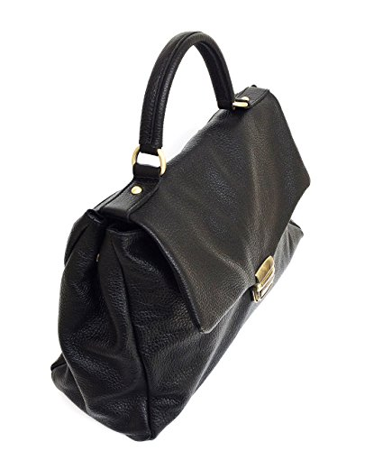Sac Superflybags Véritable En Cuir In Made Italy Modèle À Eleonora Noir Main 6drXxqwd4