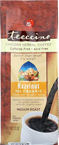Teeccino (NOT A CASE) Mediterranean Herbal Coffee Hazelnut Medium Roast Caffeine Free