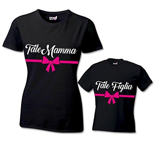 Nere Shirt Mamma Di Coppia Figlia Tale Festa T Bambino Della ZzfExwq