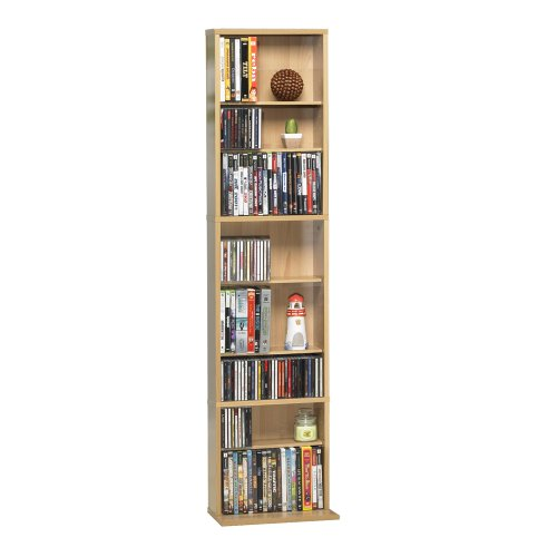 Atlantic 74735728 Oskar 261 Media Tower P2 (Wood Cabinet Dvd Storage)