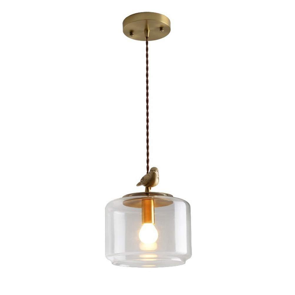 H.Q レストランペンダントライト現代のミニマリストのシャンデリアガラス天井照明ポーチ通路クリエイティブ銅ランプ   B07TQD777F