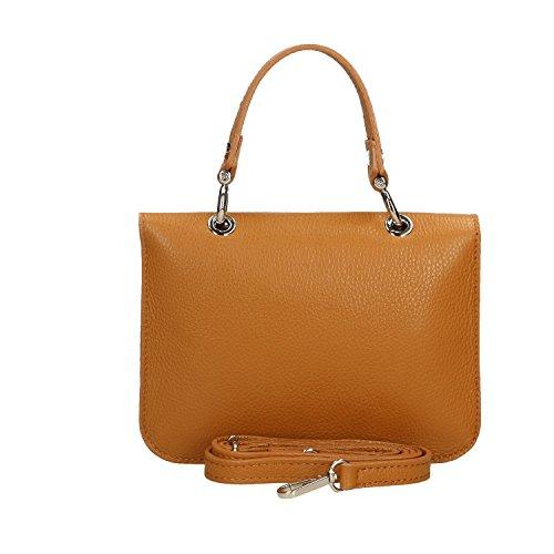en Clutch main Sac cuir véritable fabriqué Femme Petit Cuir Cm Chicca Borse à 23x17x7 Italie en axq5wpPYB